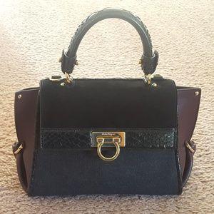 100% Authentic Ferragamo Python Trim Sofia Handbag